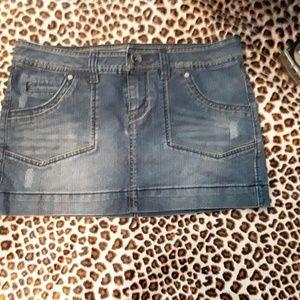 Lei Blue Jean Mini Skirt Junior Size 9